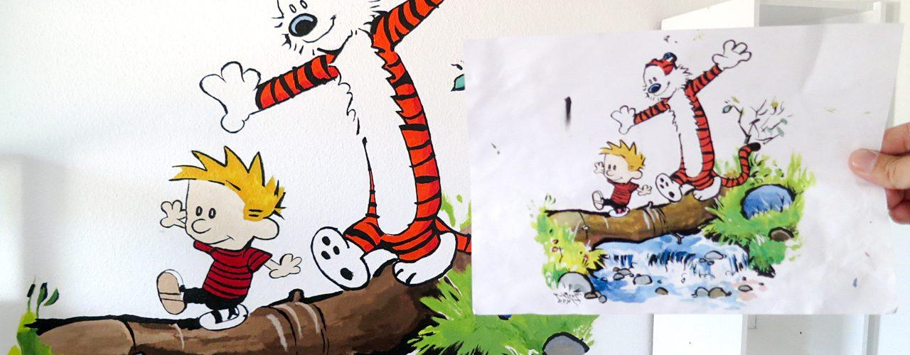Ein Wandbild fürs Kinderzimmer – ganz einfach