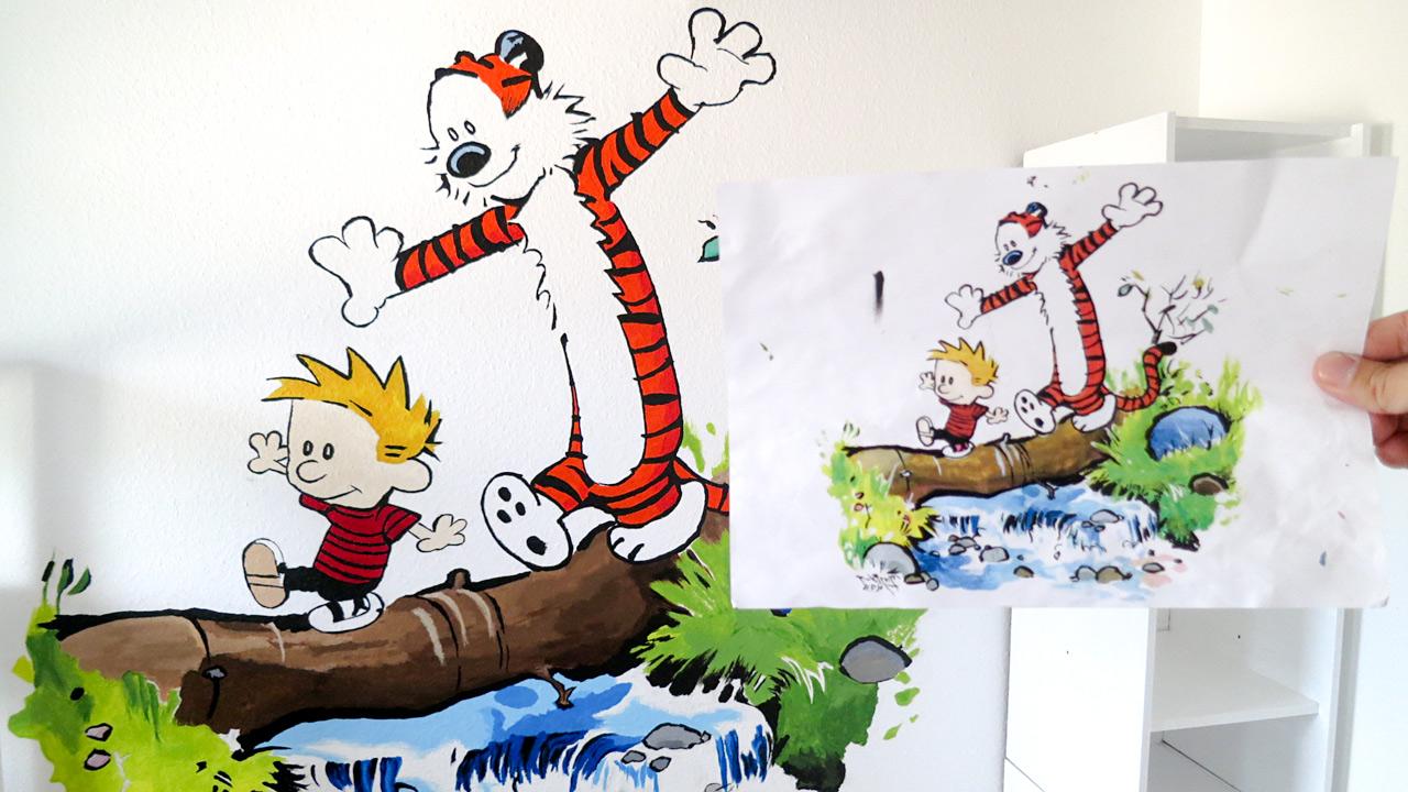 Ein Wandbild fürs Kinderzimmer – ganz einfach - 8BitPapa